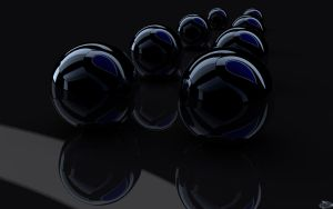 Dark balls Blue heart by vervi59