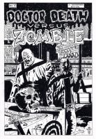 Dr Death vs the Zombie cover by kaviart