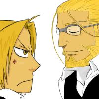 Ed and Hohenheim by AuthenticGreenEyes