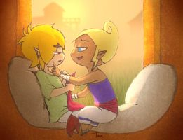 Link and Tetra: Journey's End by BeagleTsuin