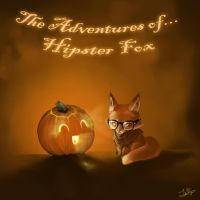 Hipster Fox and Eccentric Pumpkin by Faye-Fox