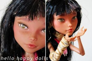 Monster high cleo repaint 2 by hellohappycrafts
