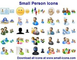Small Person Icons by shockvideo