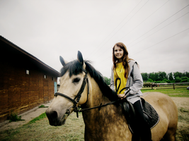 .I and my horse2. by Aquilions