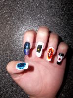 Portal Inspired Nail Art (Hand 1) by HarleyTheSirenxoxo