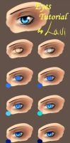 Coloring Eyes Tutorial by Lavi-Li