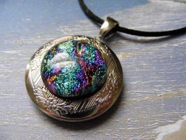 Fused Glass Locket by Create-A-Pendant