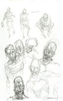 Zombies sketches by Sakx