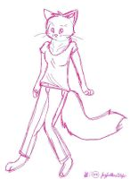 Cat Anthro Sketch by Jayfeather4life