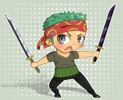 Chibi Zoro by Eternizy
