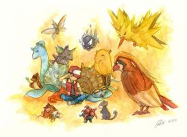 Twitch plays Pokemon by emichii