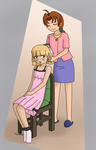 Mother-'Daughter' Bonding Time by Usa-Ritsu