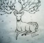 Cherry Blossom Deer by LoodleLoodle