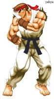 Ryu-3 HD sprite by flash-jhon