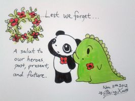 Remembrance Day Tribute by Dino and Panda by MelodicInterval
