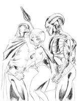 JSA Love Triangle by nailsin