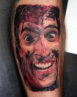Ash-Evil Dead by tattooedone