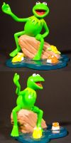 Kermit the Frog Toy by AreteStock