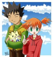 Misty and Brock. by aogaeru