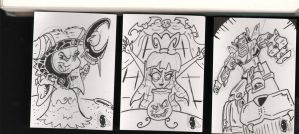 Sketchcards- Rita, Lydia, Voltron by PlummyPress
