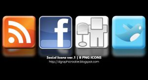 Social Icons v.1 by dgraphicrookie
