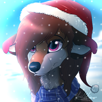 Winter Mutt~ by ScottishRedWolf