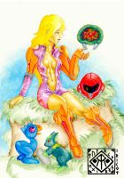 Samus and her friends by irikoy