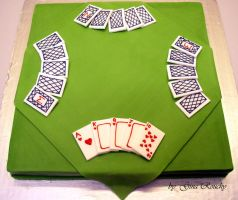 Card Game Cake by ginas-cakes