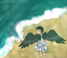 Dont Step That Fish Castiel by Aryan-MMVA