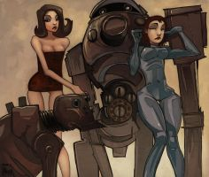 Robots and Dames by Gambear1er