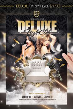 VIP Deluxe Party Gold Flyer Template by jellygraphics