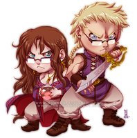 Heliossa_comm_chibi_shamael_and_Selene_02 by DewNoir