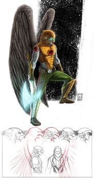 Hawkman in Space by deralbi