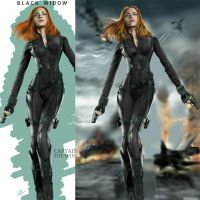 Black Widow Captain America the winter soldier 2.0 by billycsk