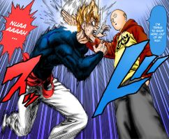 One Punch Man - Garou vs Saitama (1st Round) by Knight133