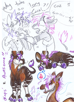 Okapi doodlies by carnival