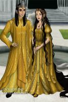 Elf King of Gold and his Daughter the Princess by Kailie2122