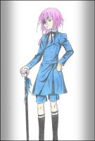 Crona as Ciel Phantomhive by khryztal-dark