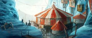 abanoned circus by kepondangkuning
