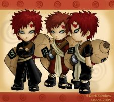 3xChibi Gaara 4 Dark Sahdow by Red-Priest-Usada