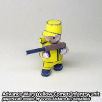 Papercraft Advance Wars Yellow Comet Infantry by ninjatoespapercraft