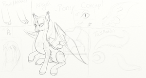 Angel Pony Concept Sketch by Annabelle-Ailuros