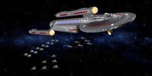 Starfleet Carrier by archangel72367
