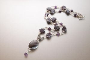 Violet necklace by alena-light