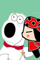 Pucca Kissed Brian by irfandy-simpson