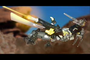 Toa Tora in action by ToaFeliax