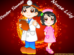 GIFT : DOCTOR YOUNES AND NURSE LILY by HOBYMIITHETACTICIAN
