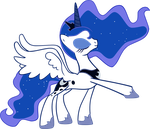 Vector Princess Luna by Kyss.S by KyssS90