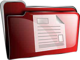 Icon folder red document by froshellin