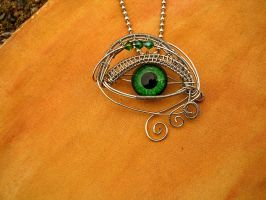 Custom for Lady Debi - Emerald Silver Swirl by LadyPirotessa